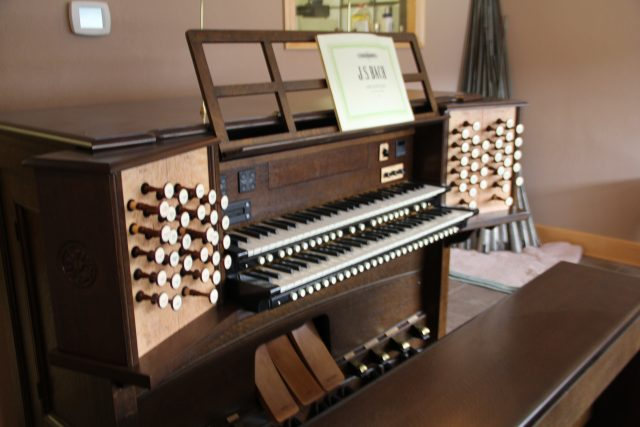 John's current repair project, an organ from St. Marcus church in Riverwest. John says projects and repairs, depending on the organ, can take up to a year to finish due to the instrument's intricacy.