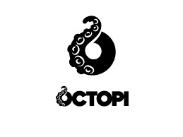 Octopi black and white