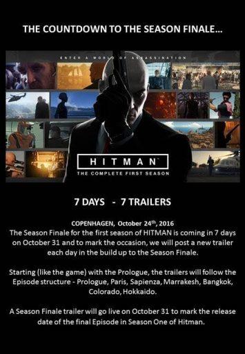 HITMAN - Season Finale poster