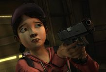The Walking Dead: Season 1 - Clementine learns to shoot