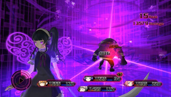 Akiba's Beat - Battle screen
