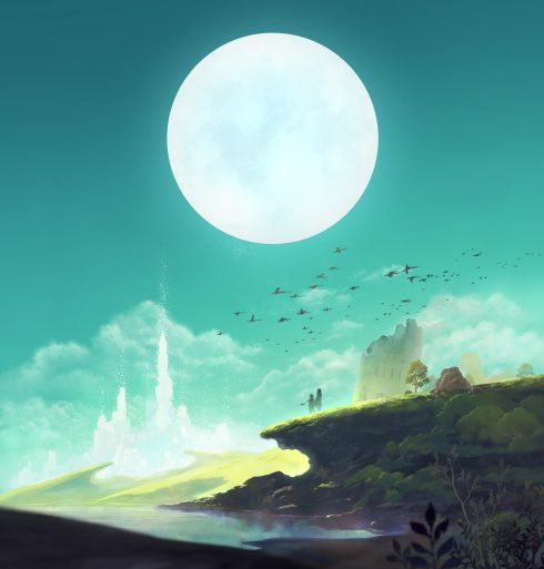 Lost Sphear - Key Art for logo