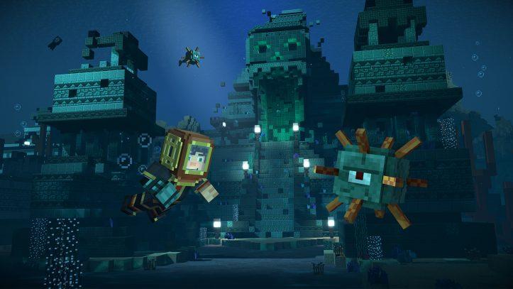 Minecraft: Story mode - Jesse underwater