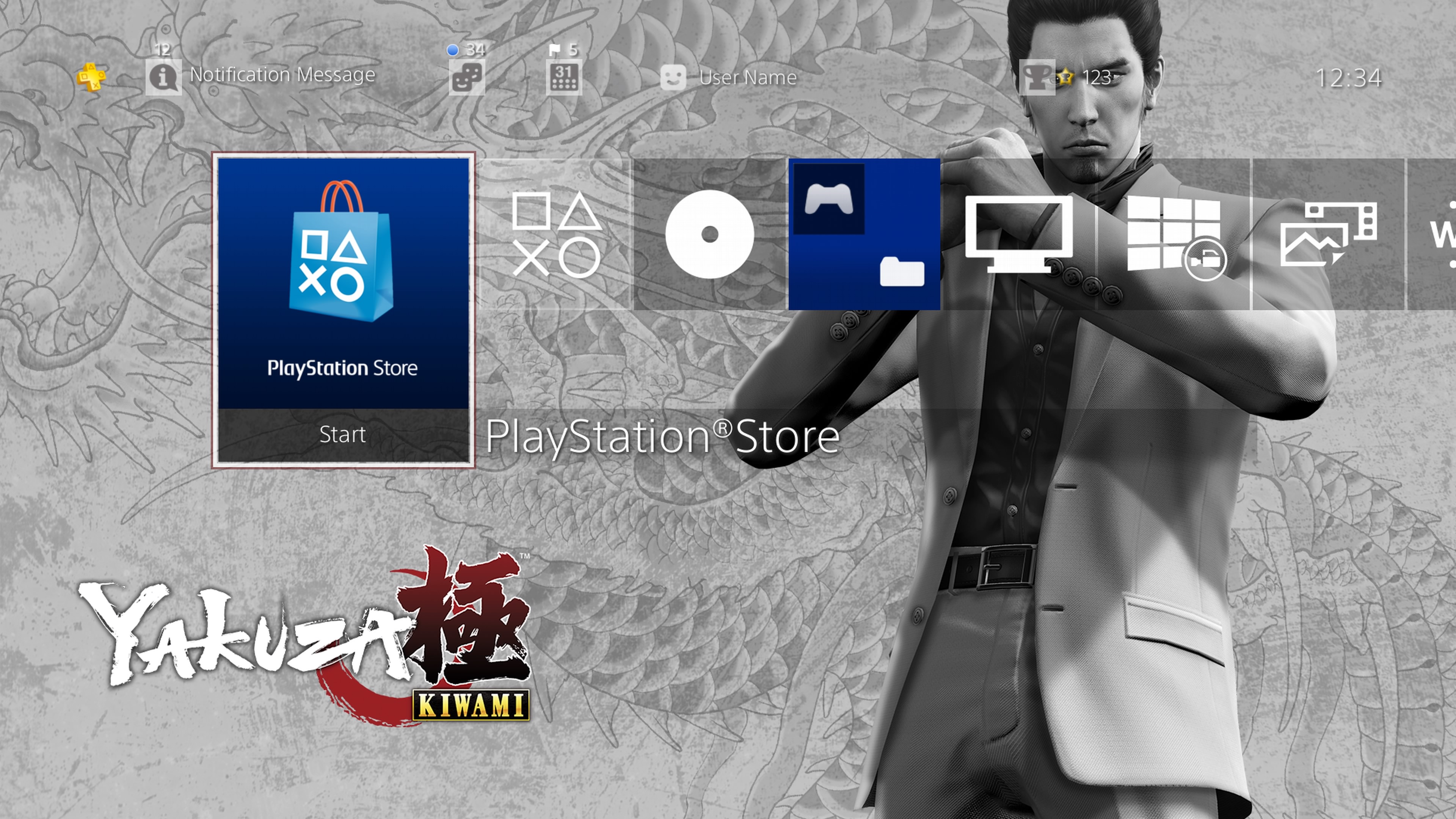 Yakuza Kiwami - PS4 theme