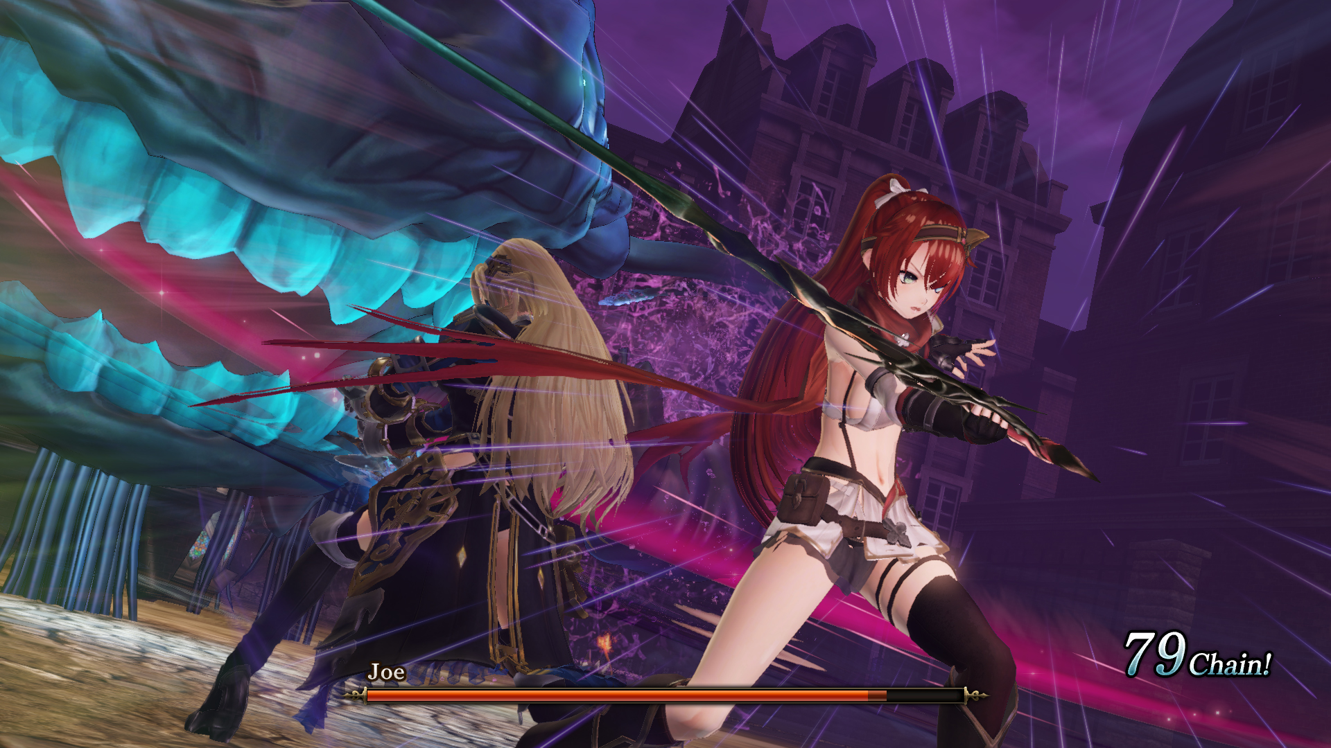 Nights of Azure 2: Bride of the New Moon - boss battle