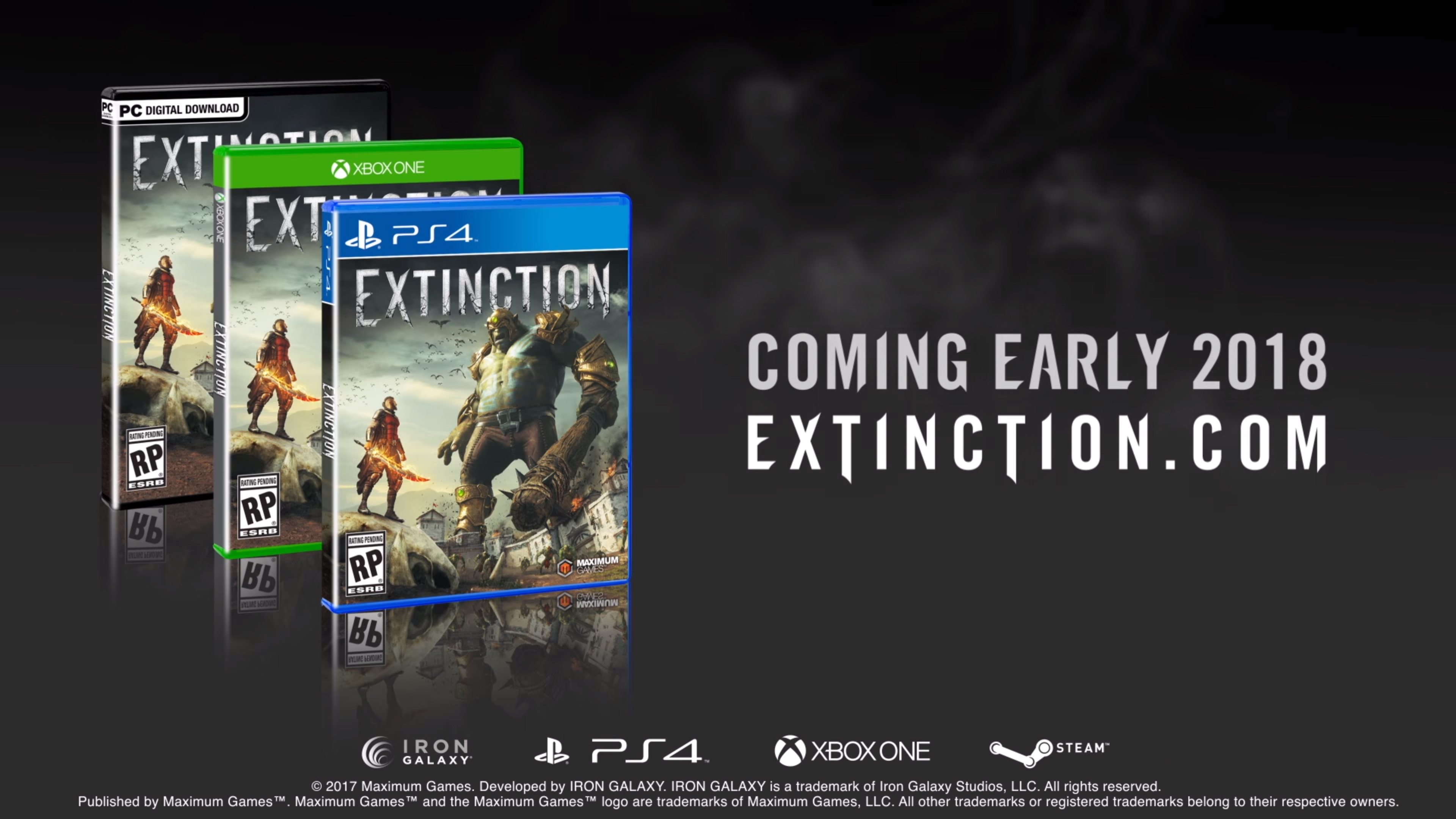 Extinction - packshots