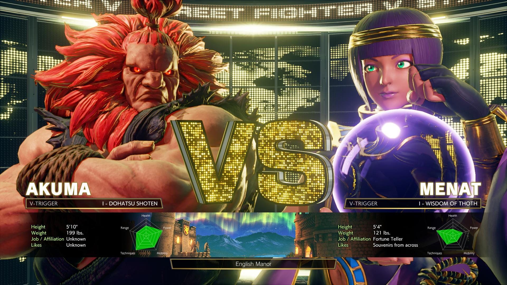 Street Fighter V: Arcade Edition - Akuma vs. Menat