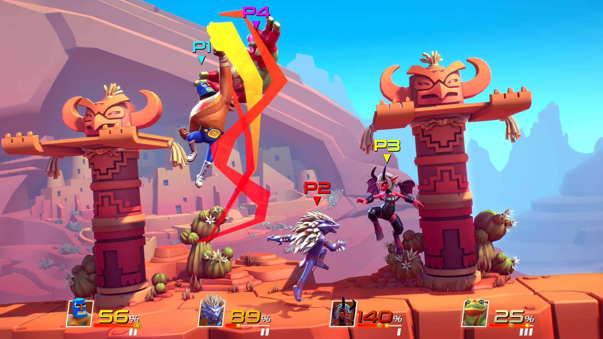 Brawlout - 4v4 screen 2