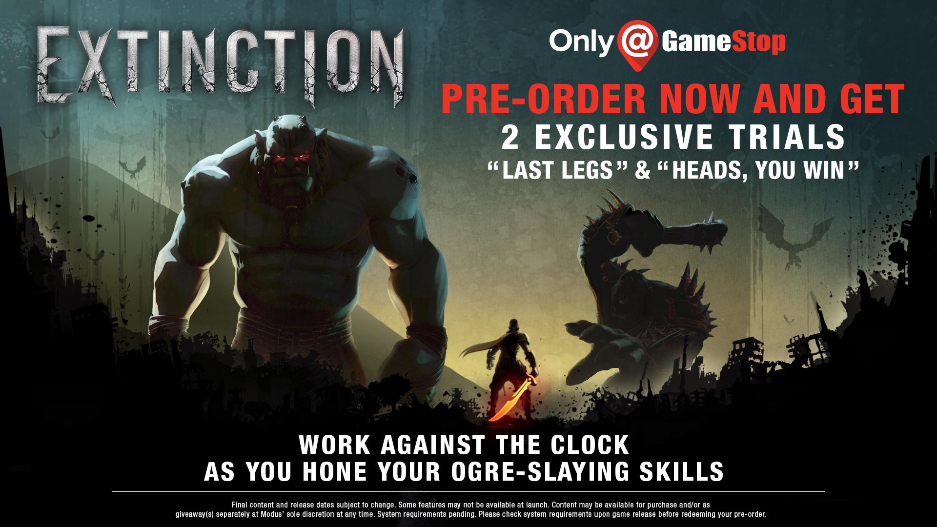 Extinction - GameStop pre-order incentive