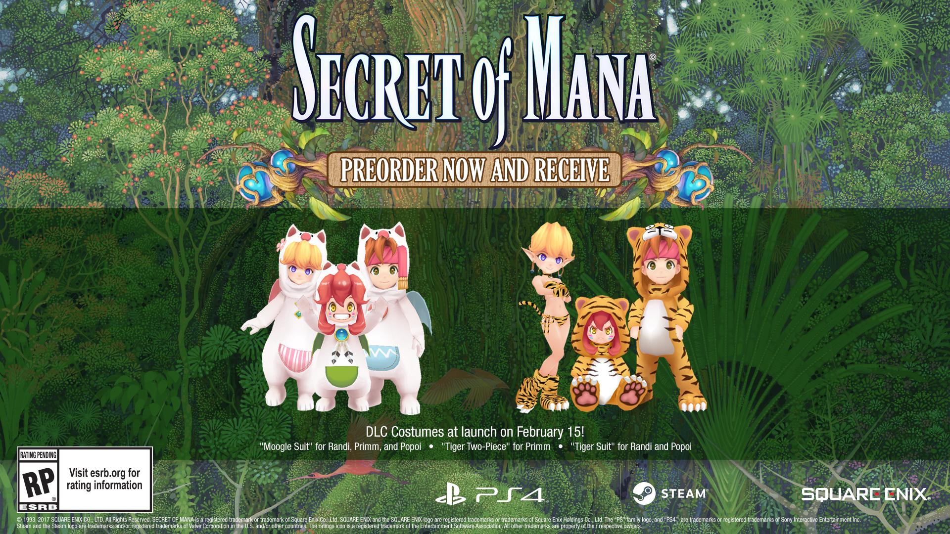 Secret of Mana - pre-order bonuses