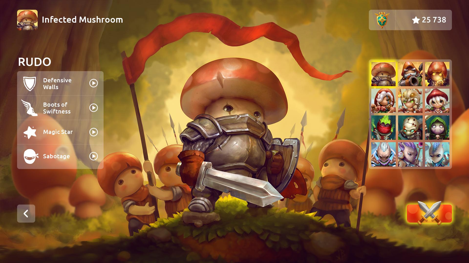 Mushroom Wars 2 - infected Mushroom