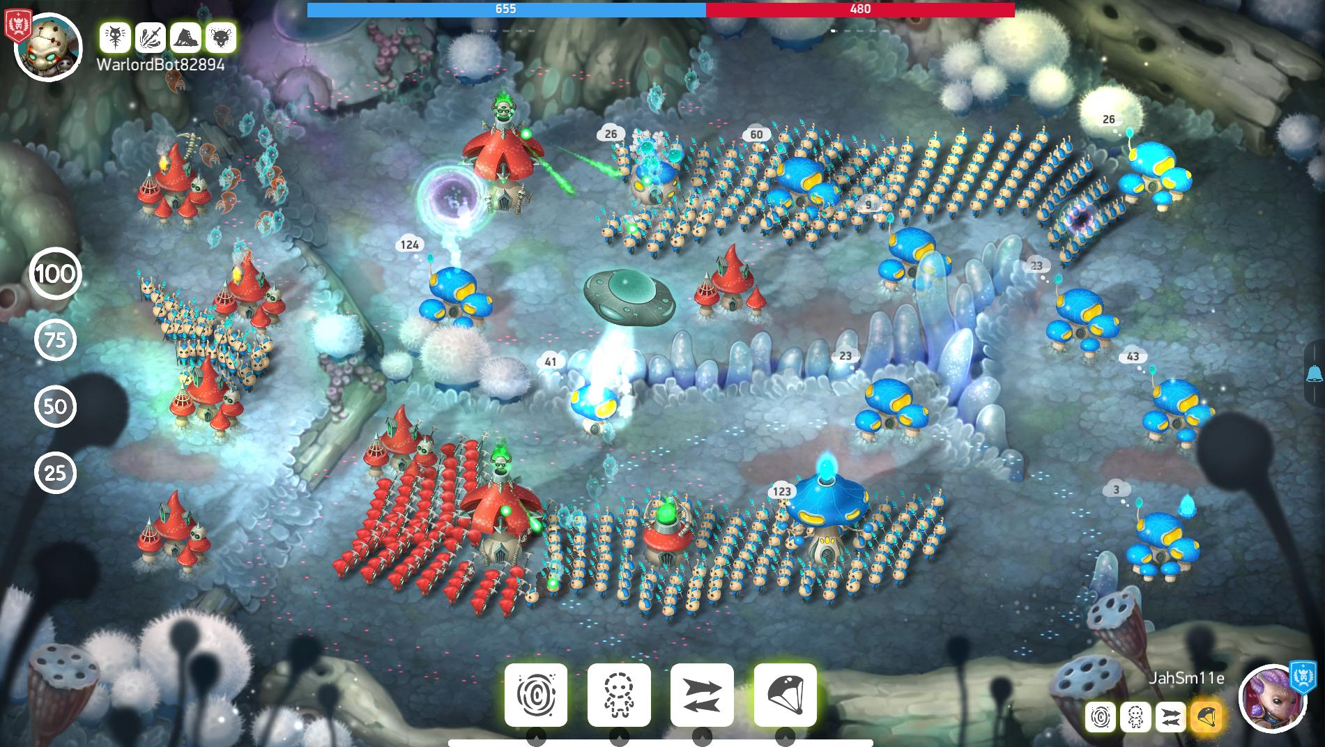 Mushroom Wars 2 - battle 01
