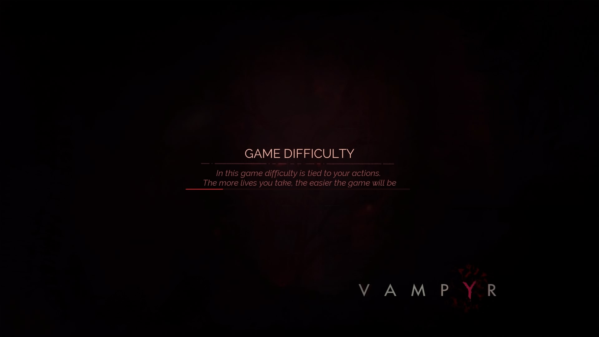 Vampyr - load screen