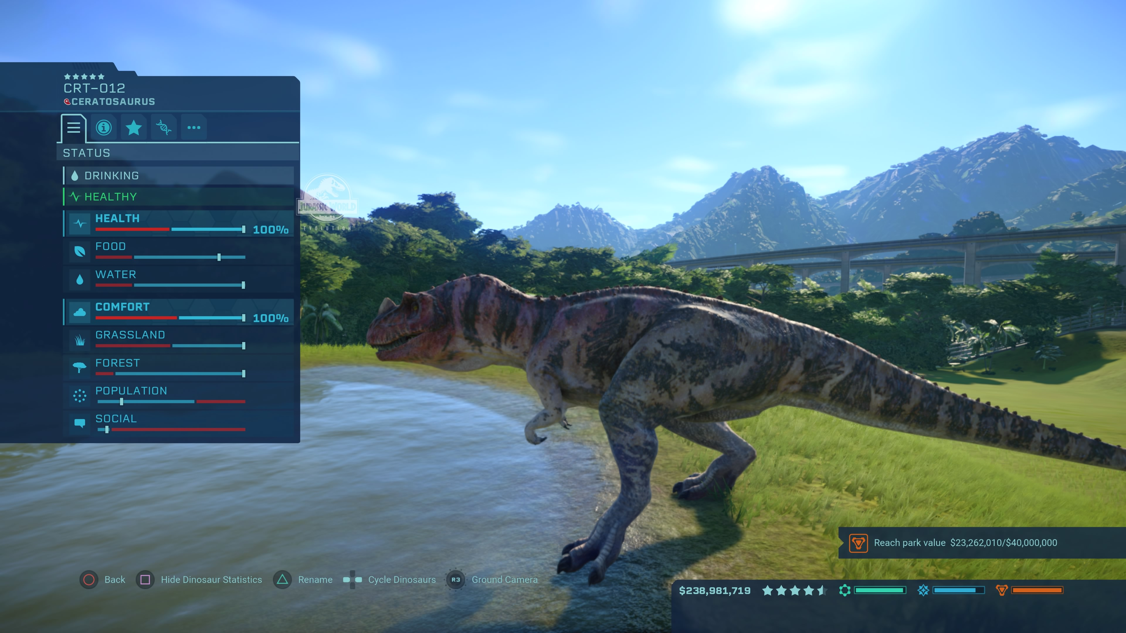 Jurassic World Evolution - Ceratosaurus