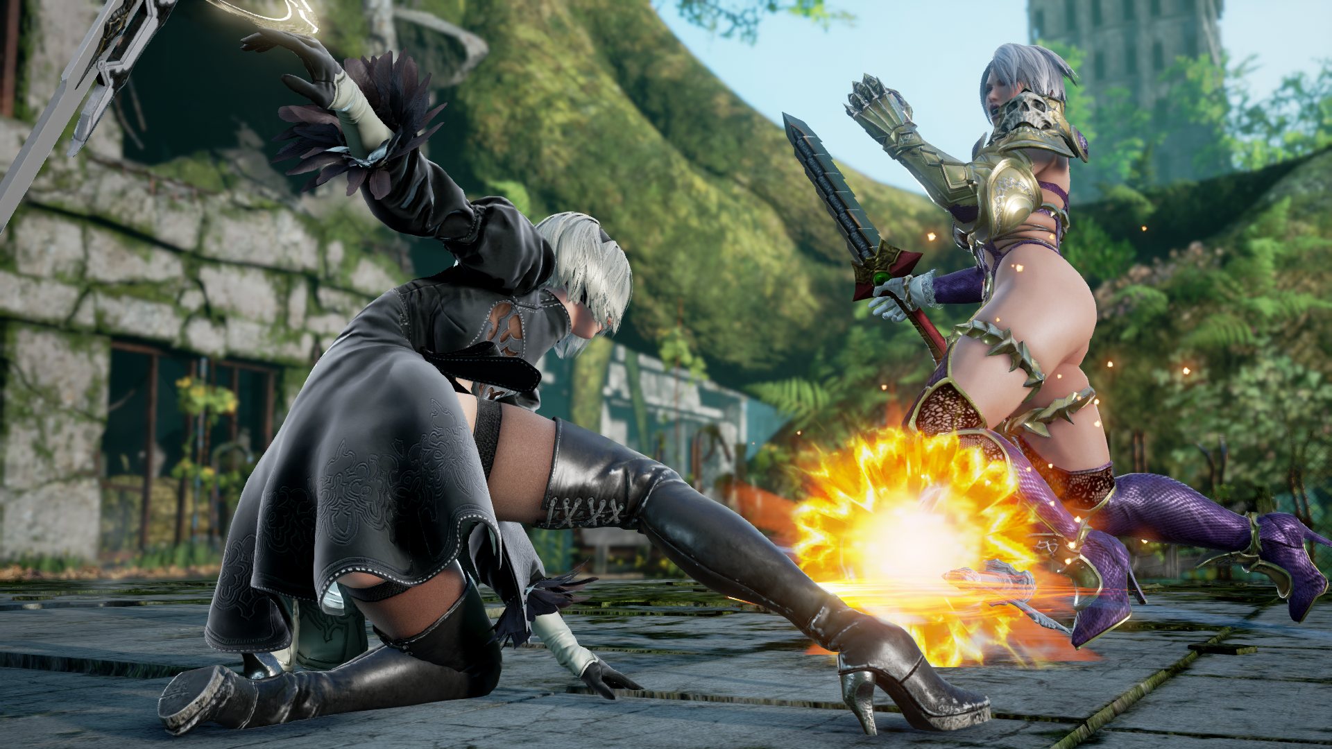 SOULCALIBUR VI - 2B vs Ivy in-game