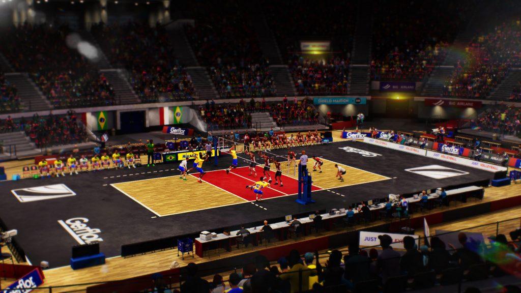 Spike Volleyball - court shot