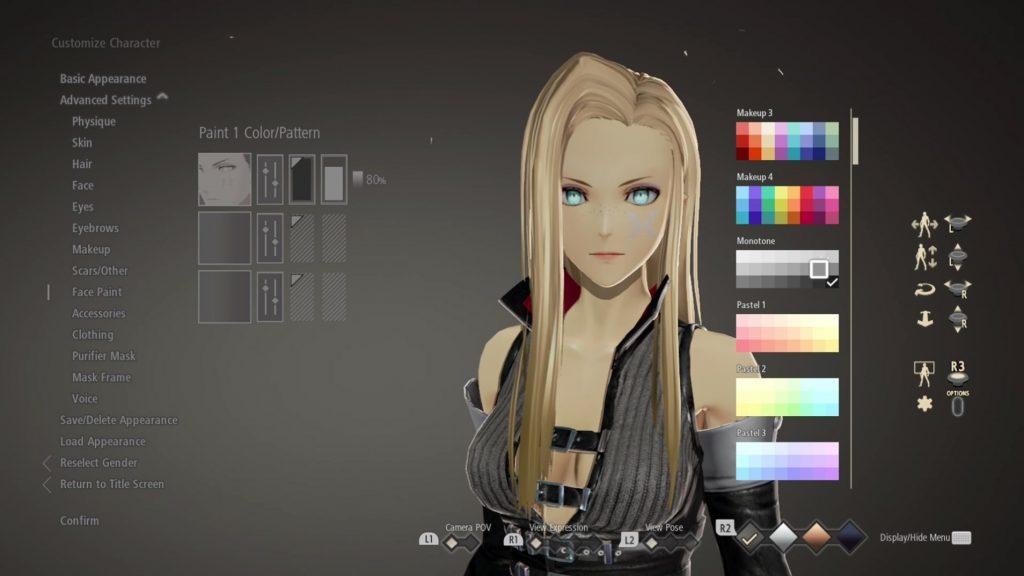 Code Vein - character creation