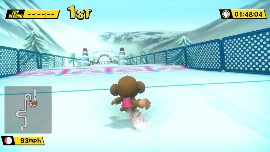 Super Monkey Ball: Banana Blitz HD - snowboard