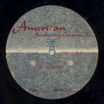 &quot;Mr. President&quot; Disc Label