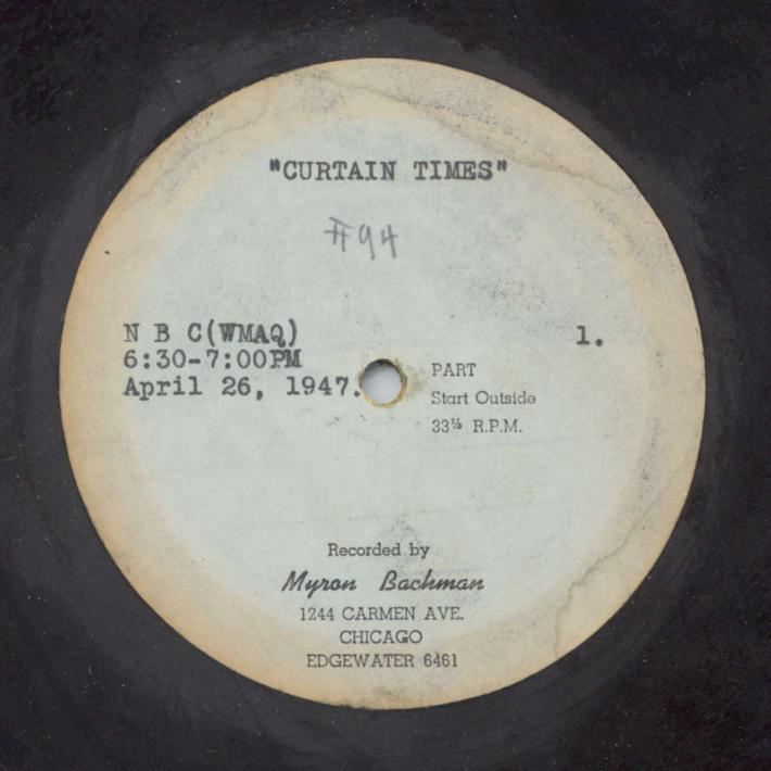 Curatin Time Disc Label