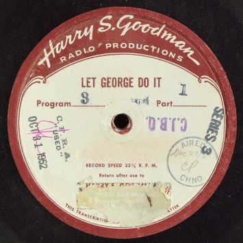 "In syndicated form, ""Let George Do It"" was distributed by Harry S. Goodman Productions"