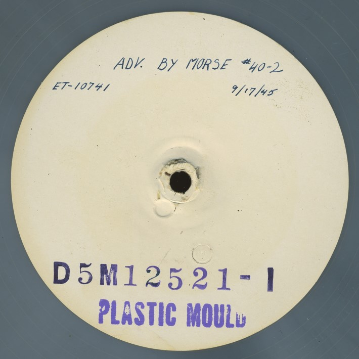 Transcription disc of Adventures by Morse