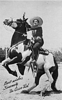 "Duncan Renaldo rides Diablo in the television version of ""The Cisco Kid"""