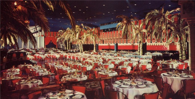Amid palm trees and a starlit sky, patrons of the Cocoanut Grove spent many a romantic evening dancing to the music of the many orchestras that performed there.