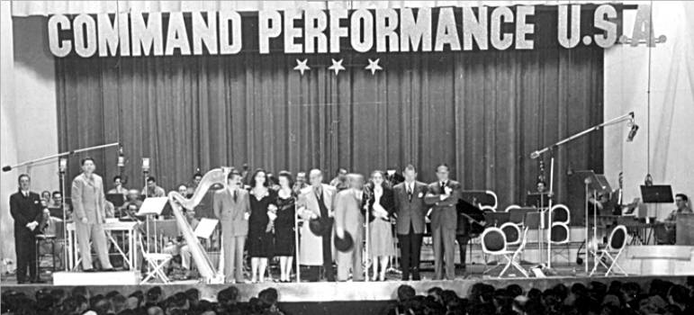 "A broadcast of ""Command Performance"", circa 1944"