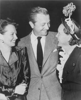 Radio wife meets real wife: Robert Young's radio wife, June Whitley, meets his real-life wife in this NBC photograph from 1949.