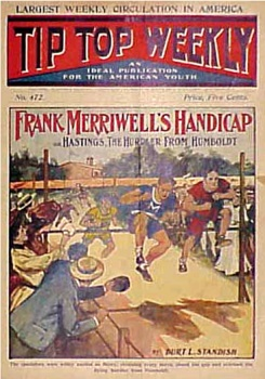 Tip-Top Weekly prominently features Frank Merriwell's adventures