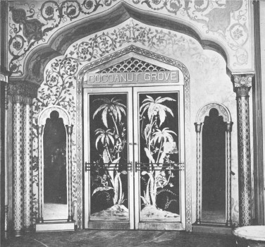 Behind these ornate and gilded doors was one of the most glamorous and star-studded nightclubs ever to grace Los Angeles: the Cocoanut Grove at the Hotel Ambassador.