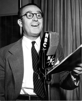 Harold Lloyd at the NBC microphone