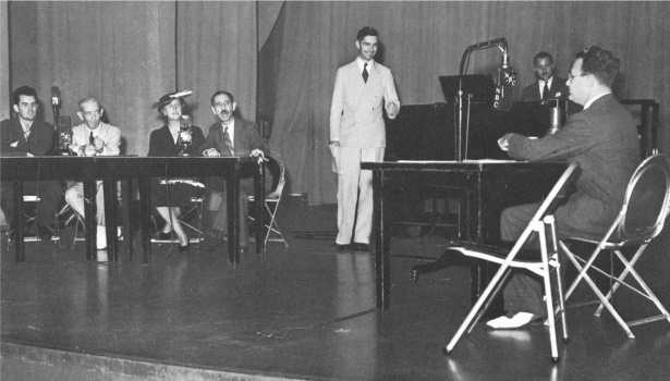 "A typical ""Information Please"" broadcast in progress, 1938"