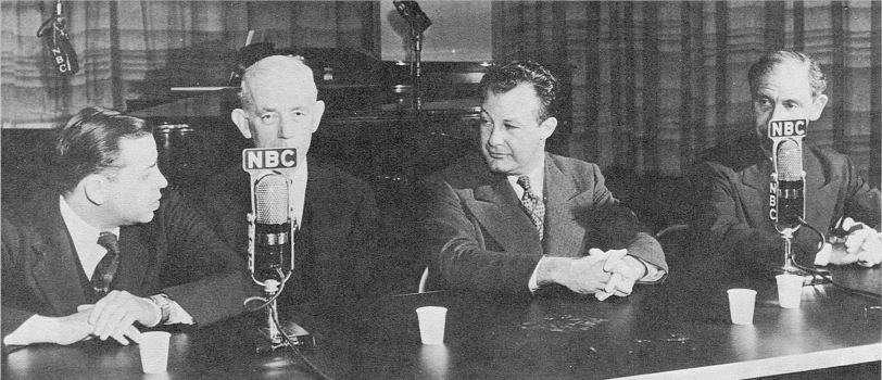 Oscar Levant, John Kieran, Clifton Fadiman, and Franklin P. Adams