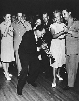 "Louis Prima ""plays pretty for the people"", circa 1944"