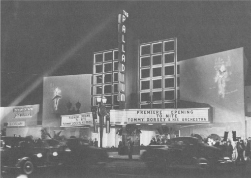 The Hollywood Palladium celebrates its Grand Opening in 1940 with Tommy Dorsey and his Orchestra, featuring Frank Sinatra