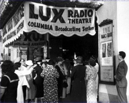 "Cecil B. DeMille, host of ""The Lux Radio Theatre"""