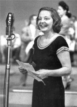 "Tallulah Bankhead at reheasal for ""The Big Show"" in the Center Theater, New York City"
