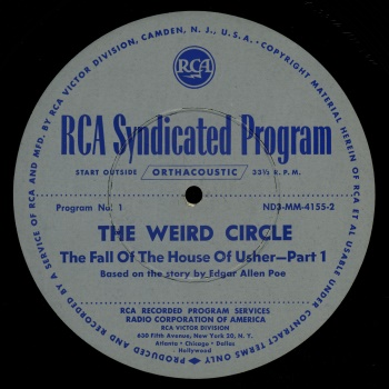 Weird Circle Disc Label