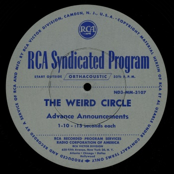 Weird Circle Disk Label