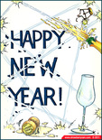 champagne new years eve new year cards ecards Tristan Parry strawberry ram sydney australia toast free card