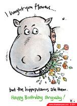 Animal lovers cards strawberry ram ecards hippo birthday cartoon ecard bookmarktalkfo Image collections