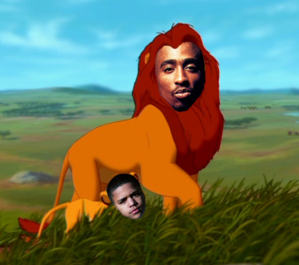 2Pac as Mufasa