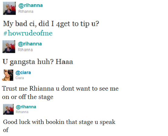 Rihanna Ciara Twitter Beef