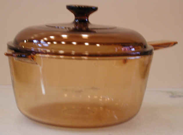Clear Glass Cooking Pot