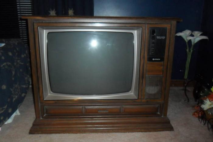 To help improve the quality of the lyrics visit look for Floor model tv
