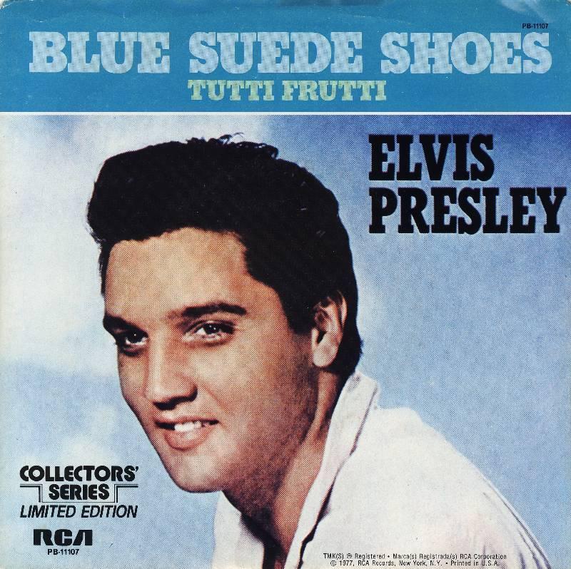 Elvis Blue Suede Shoes  For The Money Genius