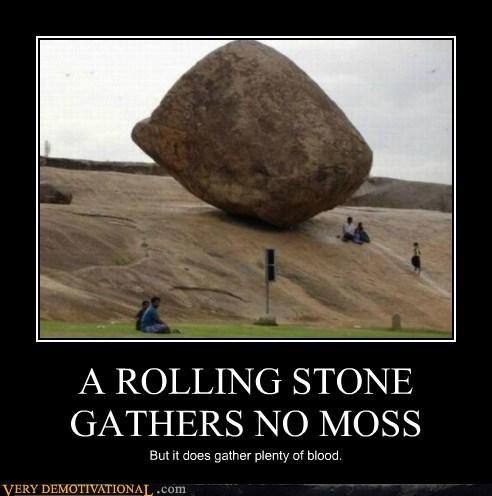 a rolling stone gathers no moss story