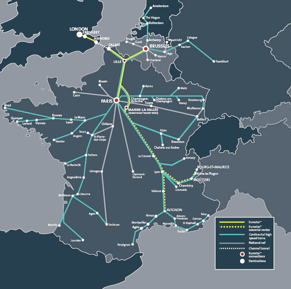 updated . eurostar map  my blog